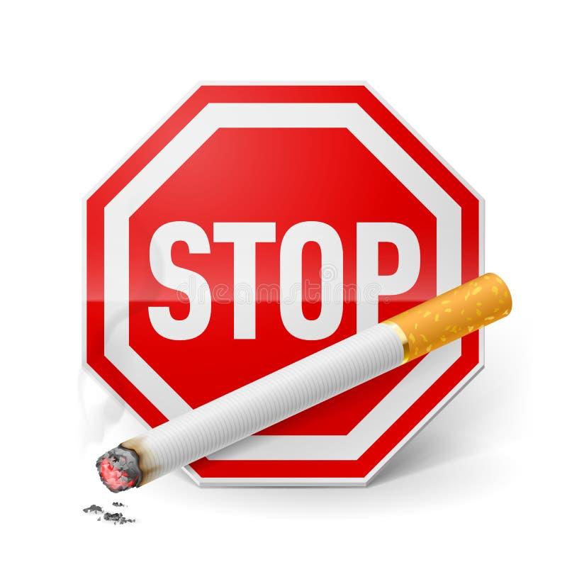 rökande stopp vektor illustrationer