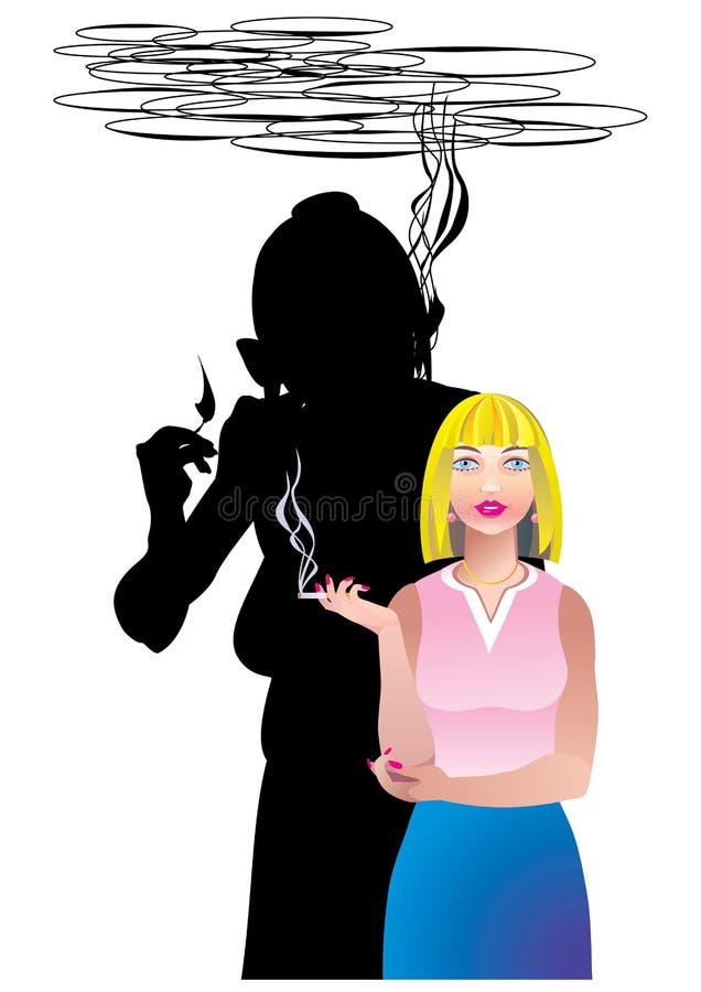 rökande vektor för anti affisch royaltyfri illustrationer
