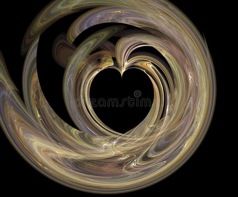 Rökig hjärta arkivfoton