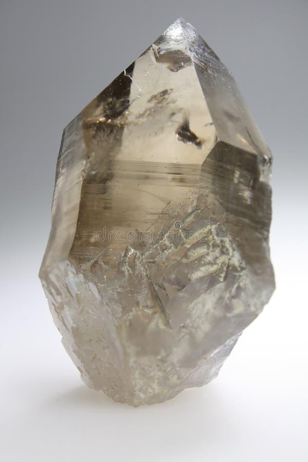 Rökig kristall - kvarts arkivbilder