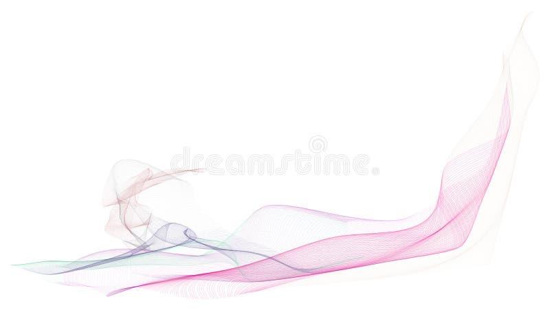 Rökig linje abstrakt begrepp för konstillustrationbakgrund, konstnärlig textur Effekt idérikt, modell & begrepp arkivfoto