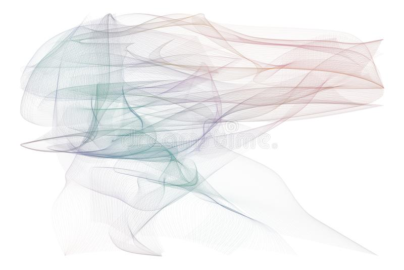 Rökig linje abstrakt begrepp för konstillustrationbakgrund, konstnärlig textur Tapet, mall, diagram & kurva arkivfoton