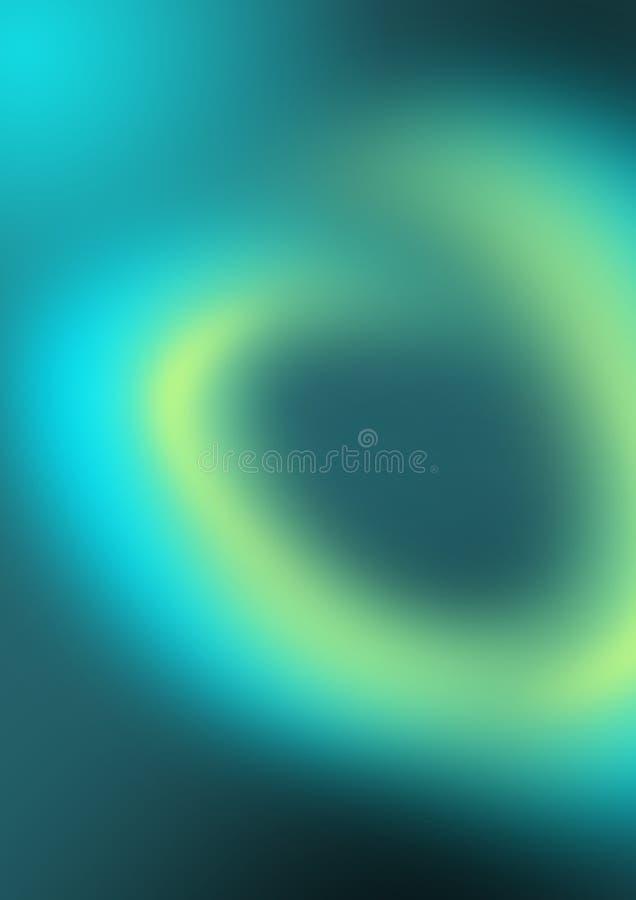 Rökmorgonrodnad - polara ljus i blått färga - gåtautrymme - spiral royaltyfri illustrationer