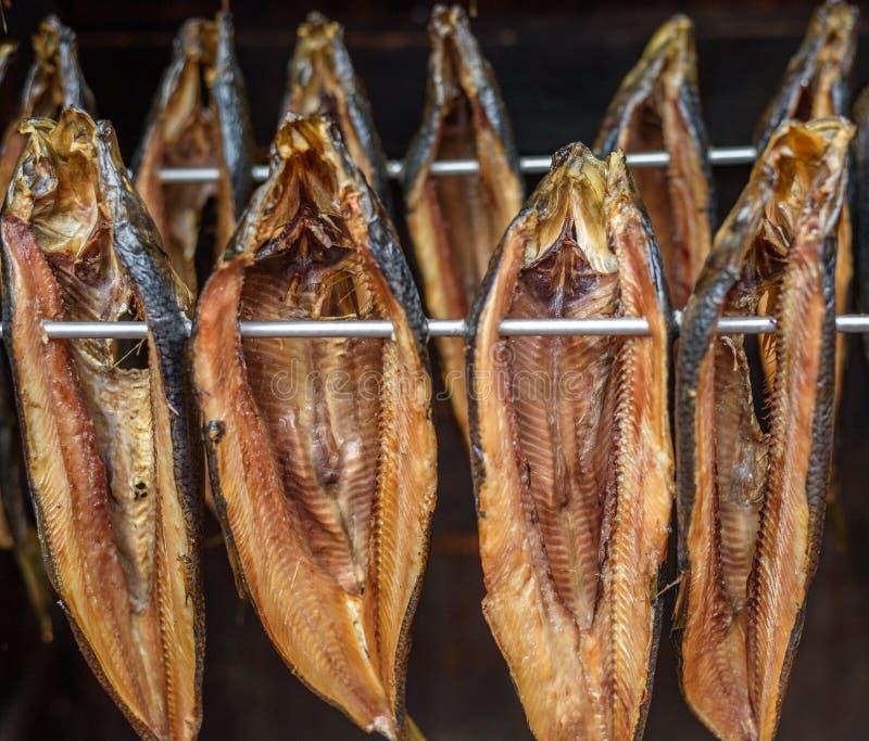 Rökt fisk royaltyfria bilder
