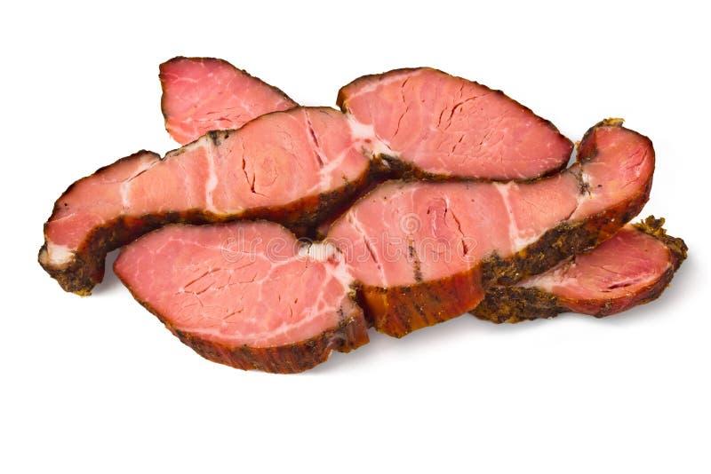 Rökt kött arkivfoton