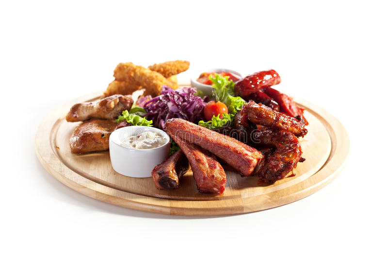 Rökte foods royaltyfri fotografi