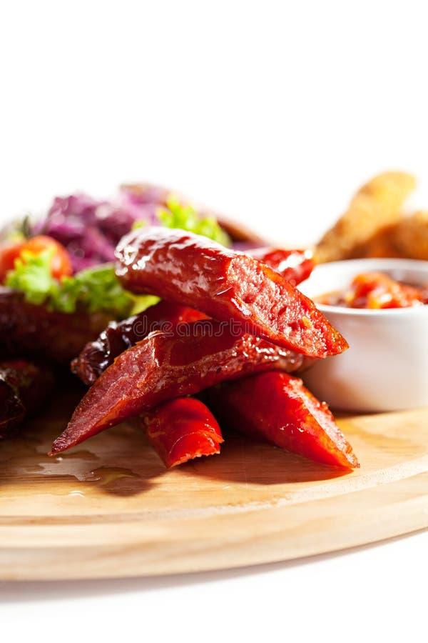 Rökte foods royaltyfria foton