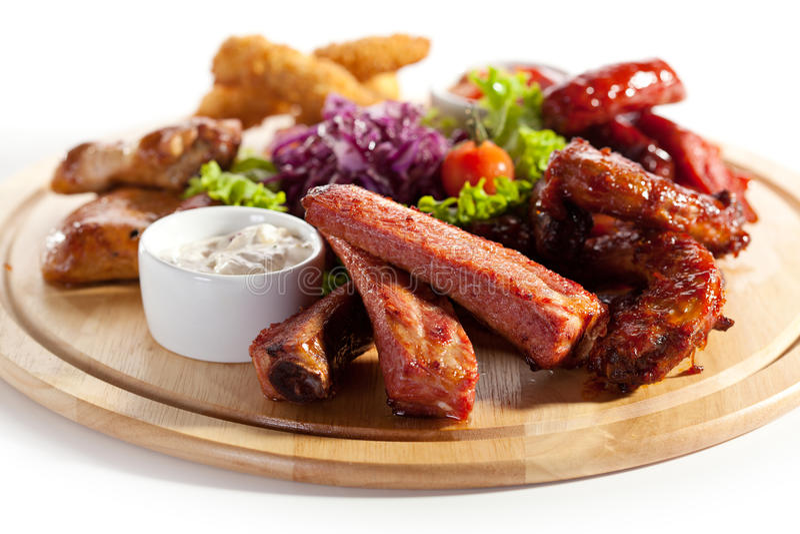 Rökte foods royaltyfri bild
