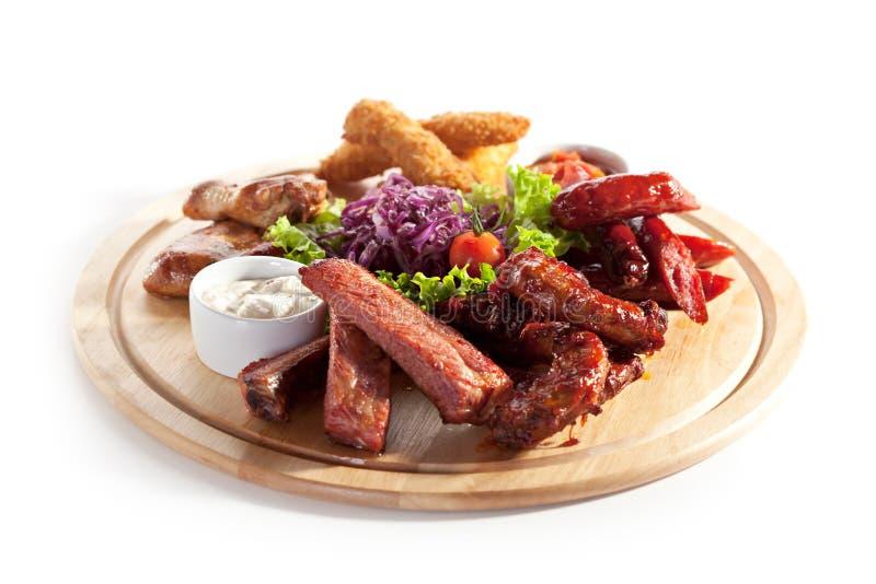 Rökte foods royaltyfria bilder