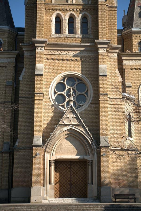 Römisch-katholische Kirche, Backa Topola, Serbien lizenzfreies stockbild