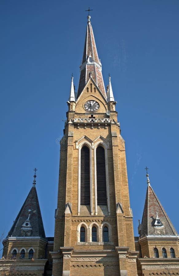 Römisch-katholische Kirche, Backa Topola, Serbien stockbild