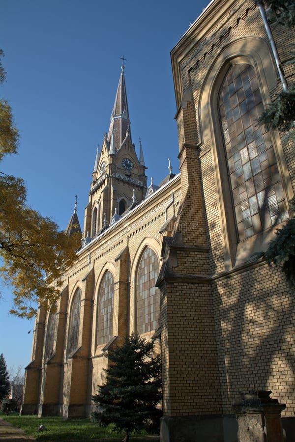 Römisch-katholische Kirche, Backa Topola, Serbien lizenzfreie stockfotografie