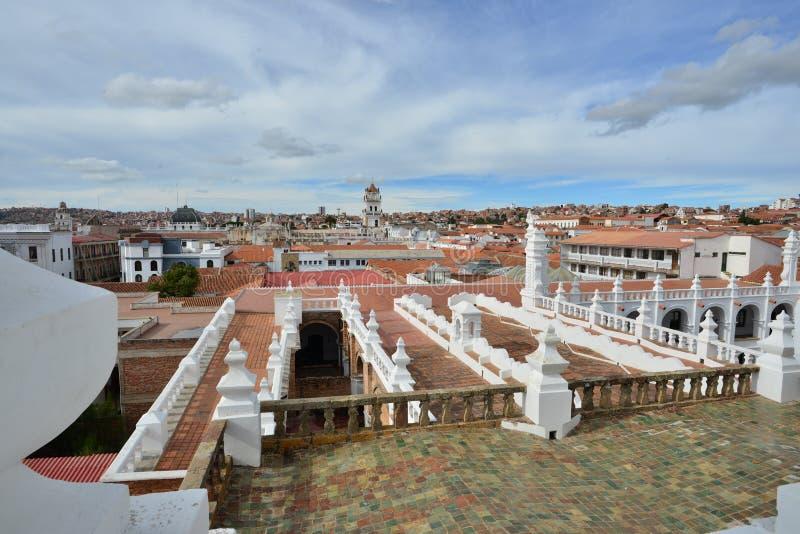Römisch-katholische Kirche in Bolivien, die Metropolitan Kathedrale Sucre stockbild