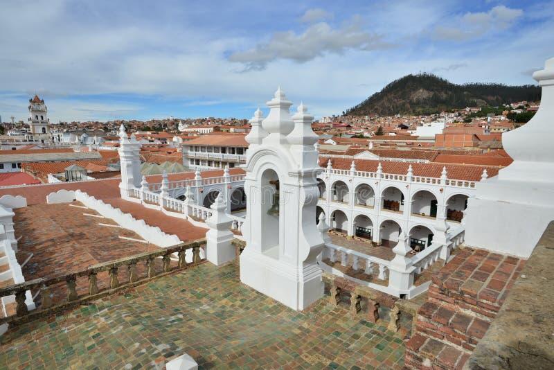 Römisch-katholische Kirche in Bolivien, die Metropolitan Kathedrale Sucre lizenzfreie stockfotografie