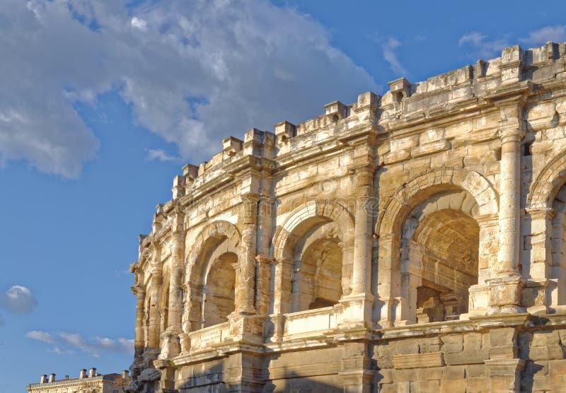 Römische Arena in Nimes Frankreich lizenzfreies stockfoto