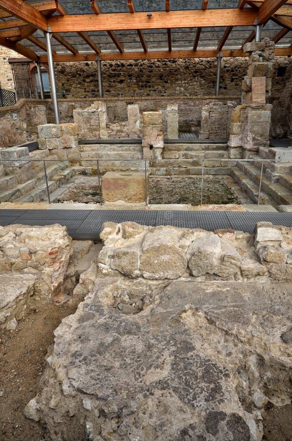 Römische Bäder in Spanien, Caldes de Malavella lizenzfreie stockfotografie