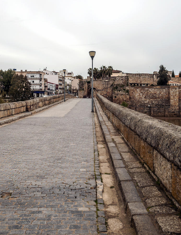 Römische Brücke von Emerita Augusta stockfoto