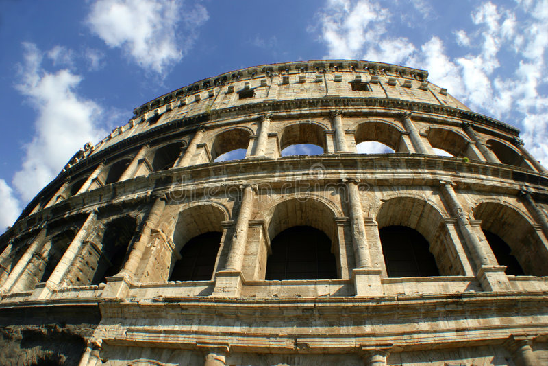 Römische Colosseum Fassade lizenzfreie stockfotografie