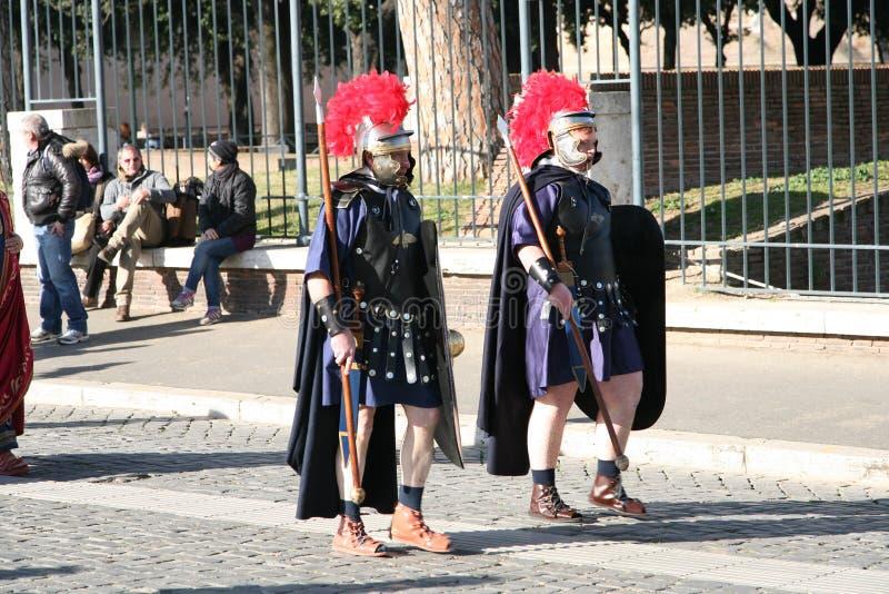 Römische Gladiatoren lizenzfreie stockfotos