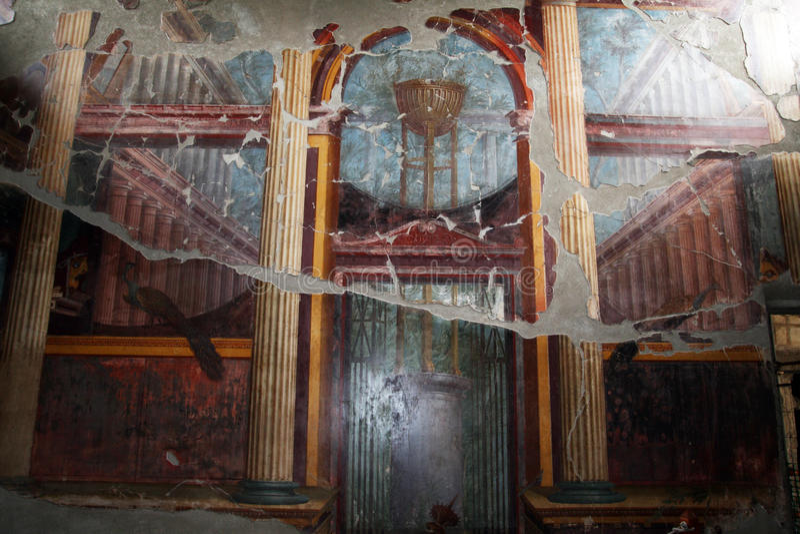 Römische oplontis Kunst lizenzfreie stockfotografie