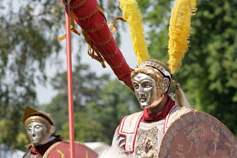 Römische Parademitfahrer stockbild