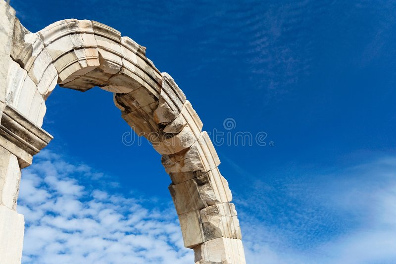 Römische Ruine lizenzfreies stockfoto
