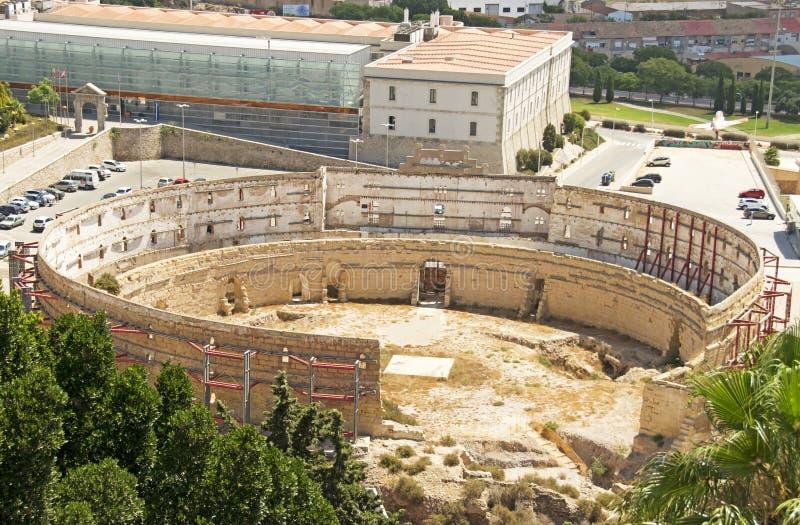 Römische Ruinen in Cartagena lizenzfreies stockfoto