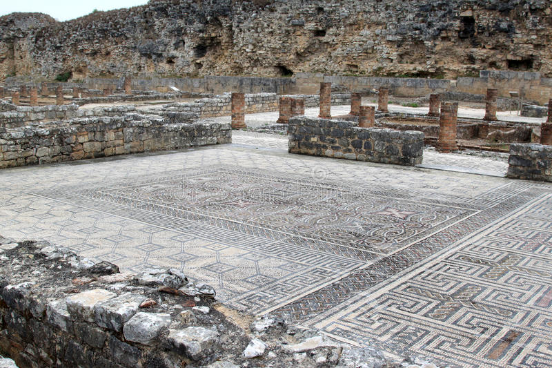Römische Ruinen in Conimbriga, Portugal stockfotografie