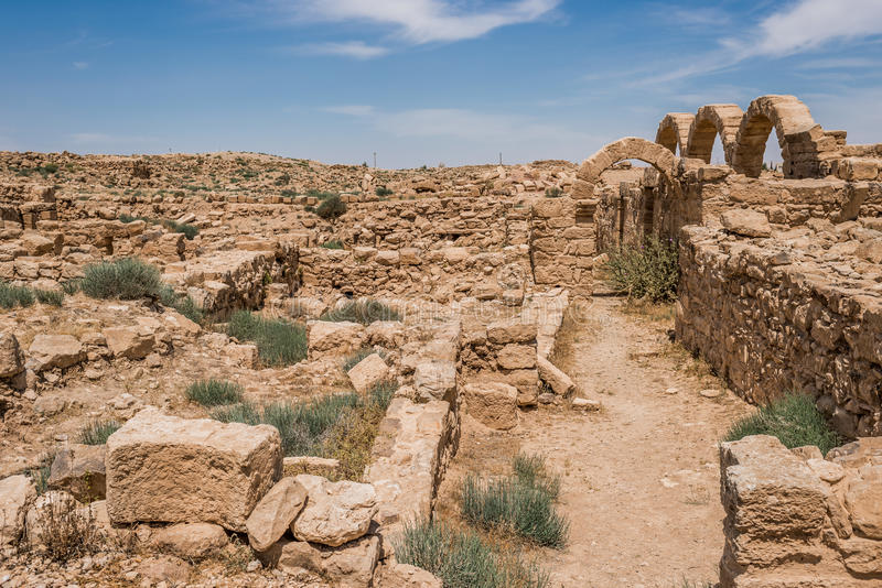 Römische Ruinen Um AR-Rasas Jordanien stockfoto