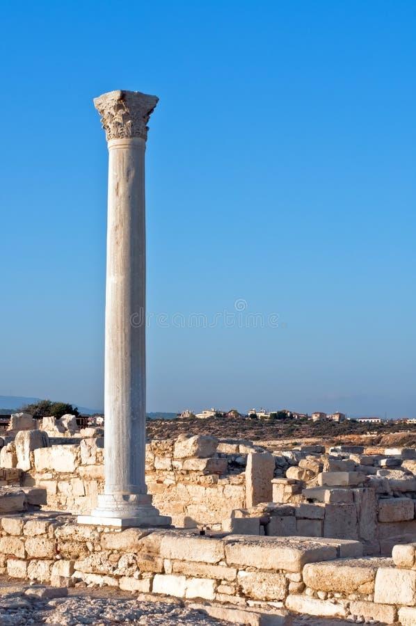 Römische Spalte bei Kourion, Zypern stockbild