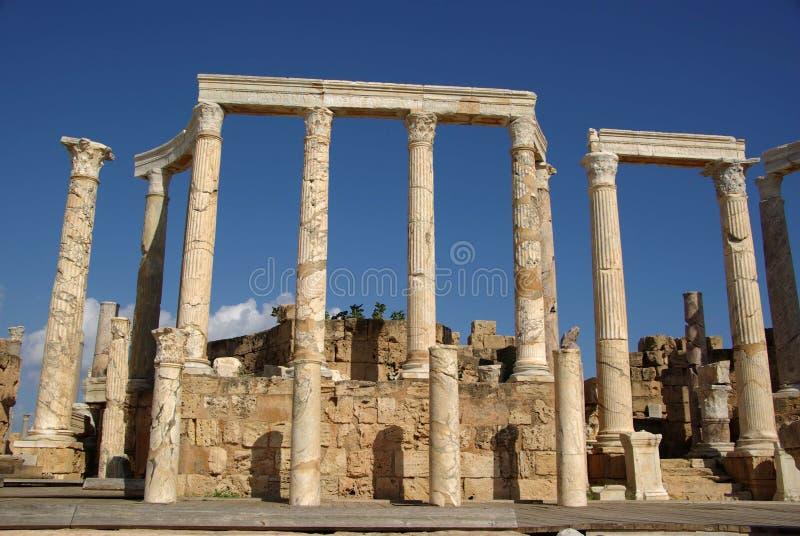 Römische Spalten, Libyen lizenzfreie stockfotos