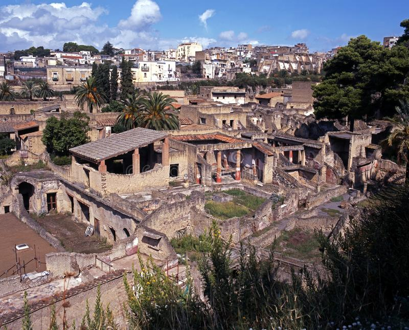 Römische Stadt, Herculaneum, Italien. lizenzfreies stockbild