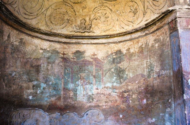 Römische Wandkunst - II - Pompeji lizenzfreies stockbild