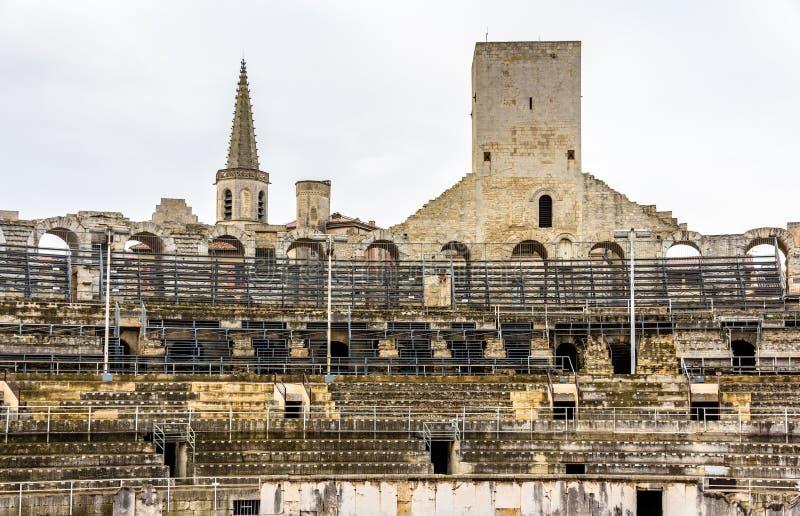 Römischer Amphitheatre in Arles - UNESCO-Welterbe lizenzfreies stockbild