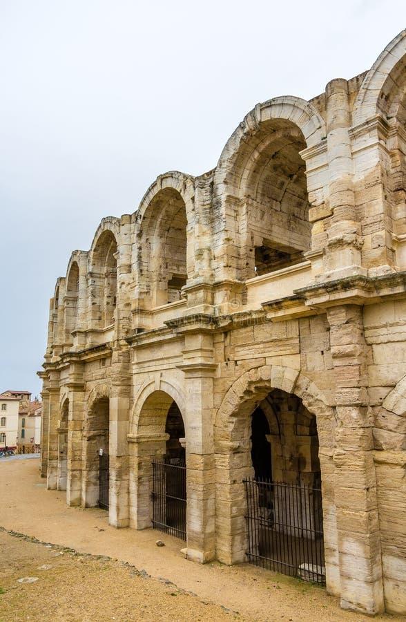 Römischer Amphitheatre in Arles - UNESCO-Welterbe stockfotografie