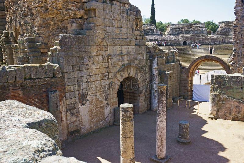 Römischer Amphitheatre, Mérida, Spanien stockfoto