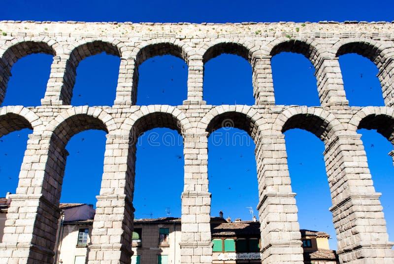 Römischer Aquädukt, Segovia stockfoto