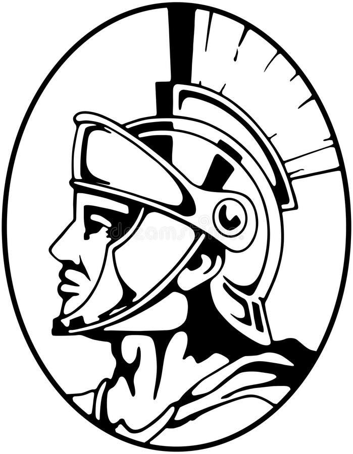 Römischer Befehlshaber lizenzfreie abbildung