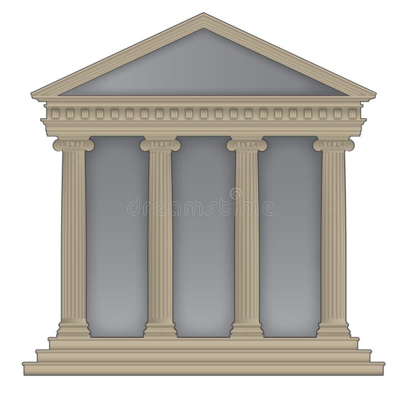 Römischer/griechischer Tempel lizenzfreie abbildung