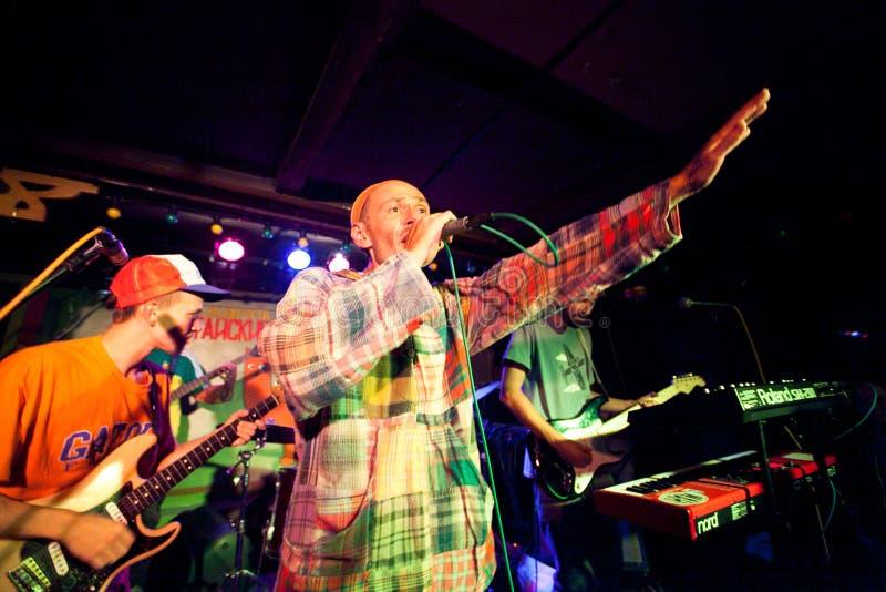 Römischer Semenov - russischer Reggaesänger stockbild