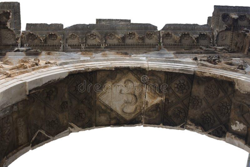 Römischer Siegesbogen getrennt stockbilder