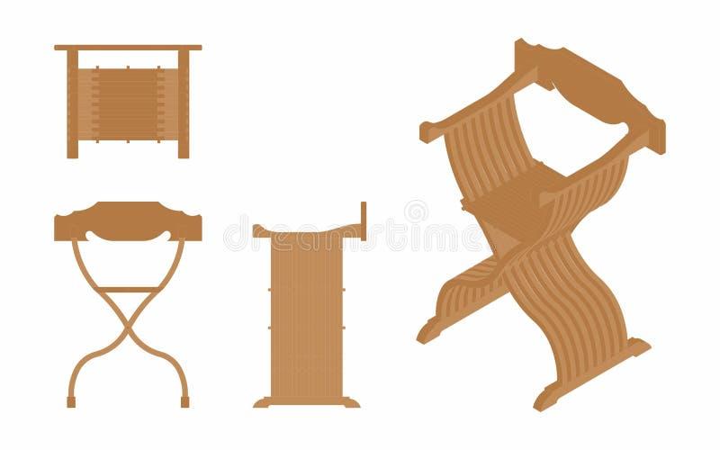 Römischer Sitz gefärbt lizenzfreie abbildung