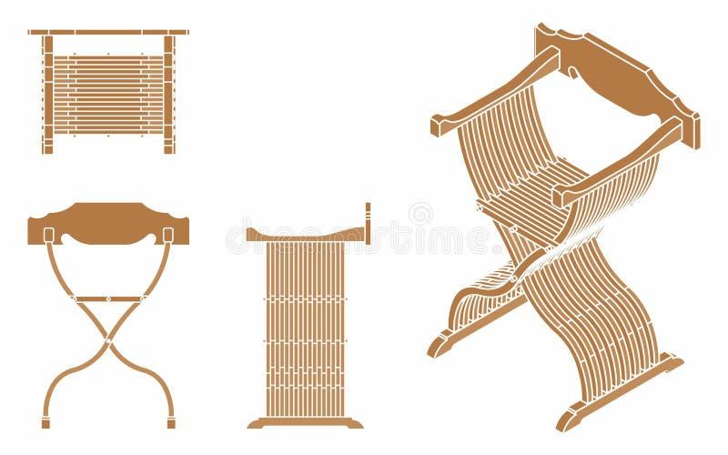 Römischer Sitz ohne Entwurf stock abbildung