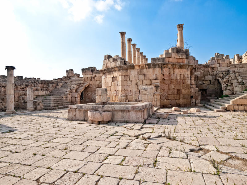 Römischer Tempel, Jerash lizenzfreies stockfoto