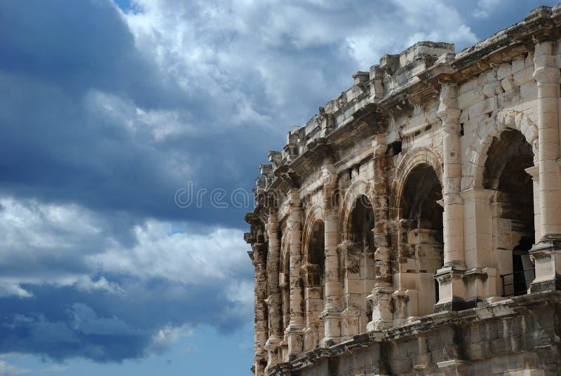 Römisches Amphitheater stockbild