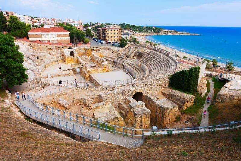 Römisches Amphitheater. Tarragona, Spanien stockfoto