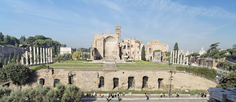 Römisches Forum in Rom lizenzfreie stockfotografie