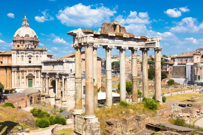 Römisches Forum, Rom, Italien stockbilder