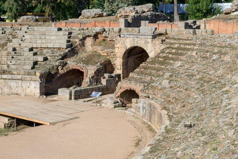 Römisches Kolosseum in Mérida (Spanien lizenzfreies stockbild