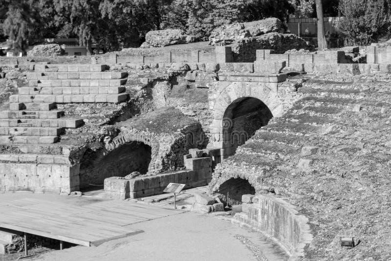 Römisches Kolosseum in Mérida (Spanien lizenzfreie stockfotos